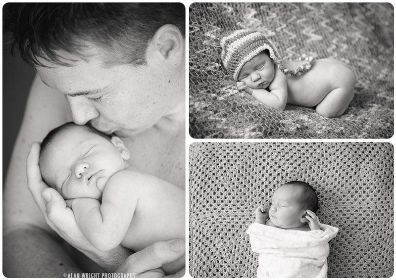 Father and daughter new baby photography