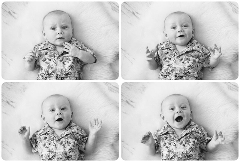 Capturing a 4 month old baby laughing