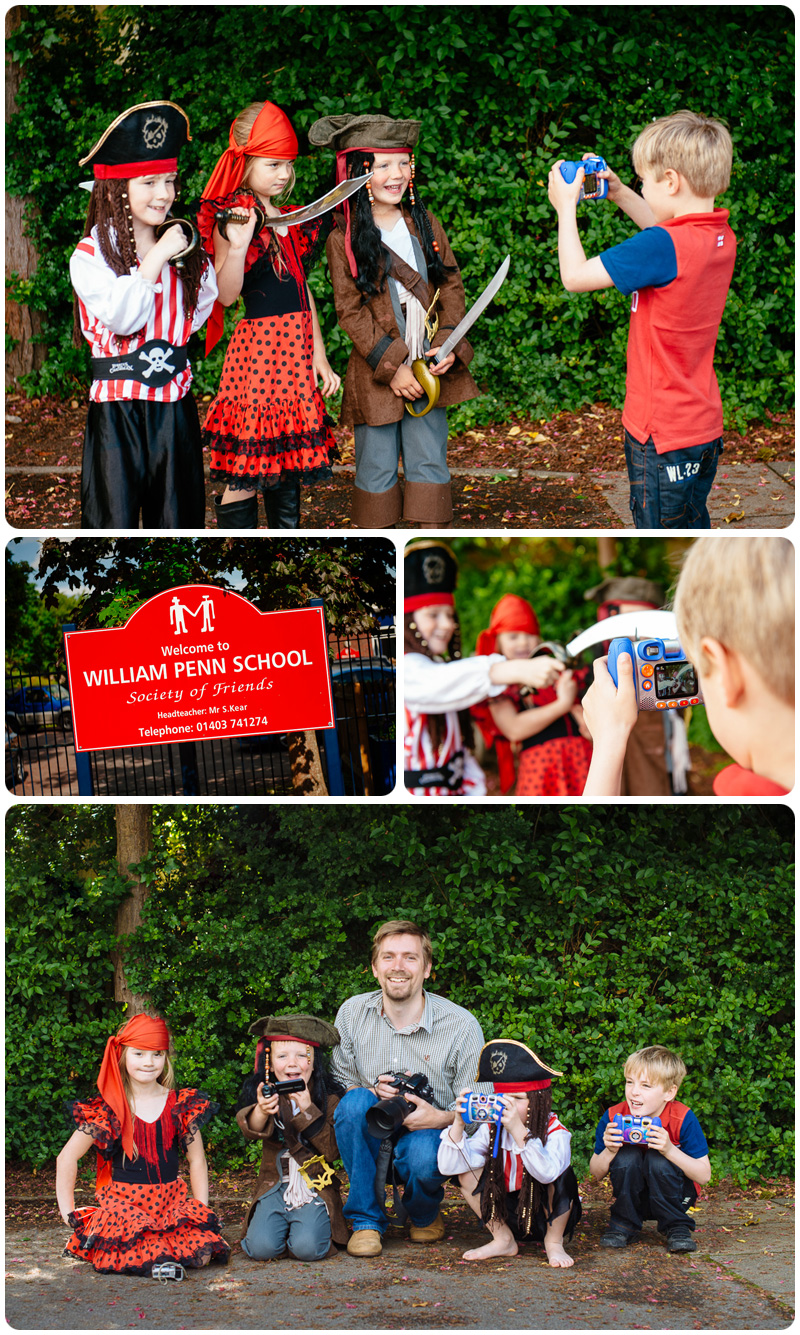 Children's photography workshop run by Alan Wright Photography