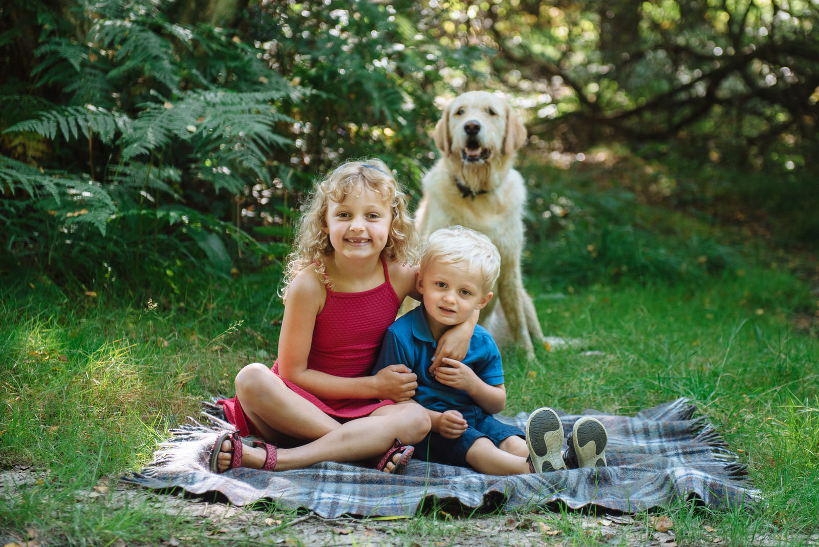 Children's photography including pets