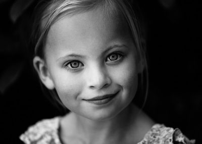 Black & White child portrait